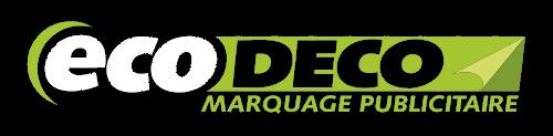 logo société eco deco de marquage publicitaire, création d'enseignes et personnalisation de véhicules.
